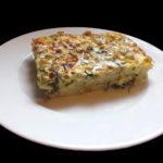 Zapečené těstoviny s listovým špenátem a sýrem