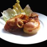 Liptovské pečené brambory s restovanou cibulkou